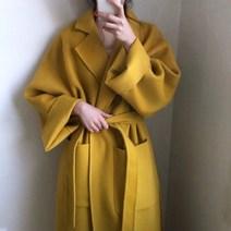 여성 노랑 코트