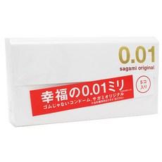 사가미 오리지널 0.01 콘돔, 5개입, 1개
