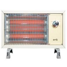 EMK 감성 레트로 전기히터 온풍기, 베이지, EQH-S1612