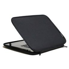 인트존 투톤 지퍼 노트북 파우치 INTC-215X, A 스모키 블랙, 15.6in