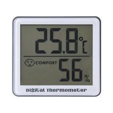 노바리빙 디지털 온습도계 SH023 그레이, 1개
