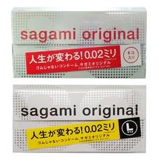 사가미 오리지날002 초박형 콘돔 6p + 라지002 6p, 1세트