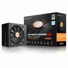 맥스엘리트 맥스웰 게이밍 프로 500W 80PLUS 스탠다드 플랫 ATX PS-500EUW(M), 1