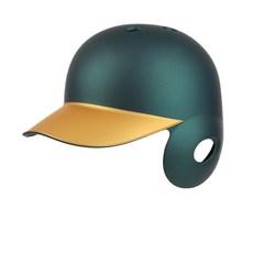 18.44 우타용 야구 헬멧, 그린 + 골드