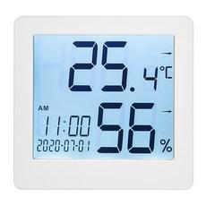 홈플래닛 고급형 대화면 백라이팅 온습도계 알람시계, 1개