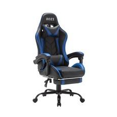ROZI 게이밍 의자, 블랙 + 블루