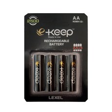 렉셀 e Keep 고용량 AA 충전지 2500mAh, 4개입, 1개