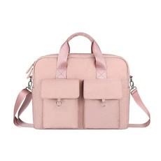 다올 2포켓 대용량 노트북 가방, 핑크