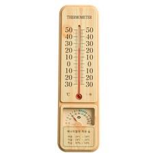 플라이토 굿데이 나무 무늬 온습도계 32.5cm, 메이플, 1개