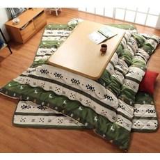 코타츠 전용 이불 매트 일본식 온열테이블용 이불세트, 옵션01 이불 정사각형 매트_코타츠구성품