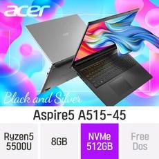 ACER 가성비 노트북 아스파이어5 A515-45 테라4 [실버만가능], 8GB, NVMe 512GB, 미포함