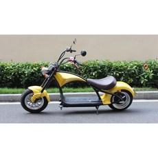 2021신형 전동 스쿠터 할리 오토바이 출퇴근용 오토바이 최고시속50KM 주행거리50KM, YELLOW