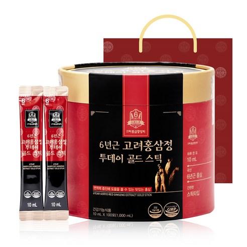 고려홍삼중앙회 6년근 고려홍삼정 투데이 골드 스틱